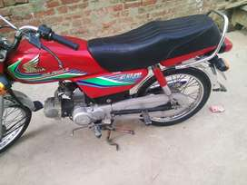 honda cd 70 2017 model condtion lush
