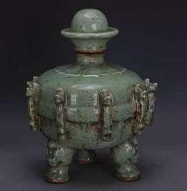 Keramik Antik Dinasti SOng Longquan Kiln Anggur Jar Tua