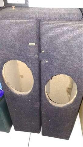 Box speaker oval ex. dipasang di audio mobil 2 buah
