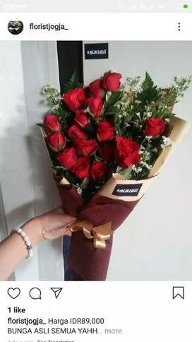 Bunga Mawar Asli Buat Ulang Tahun