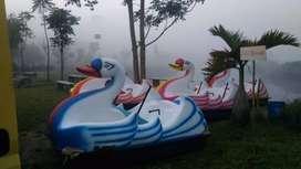 sepeda air atau sepeda goes bebek putih biru, bebek angsa