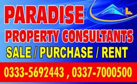 Ideally located near to possession plot 60feets Road Jinnah Garden 1