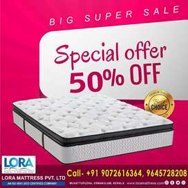 MATTRESSES @ 50% DISCOUNT.  COD & HOME DELIVERY AVAILABLE