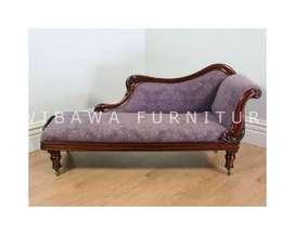 Kursi Sofa Santai Ruang Tamu 2 Dudukan Minimalis Kayu Jati