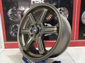 Velg mobil model palang HSR MINAS R17 lebar 7 pcd 4x100 dan 4x114,3