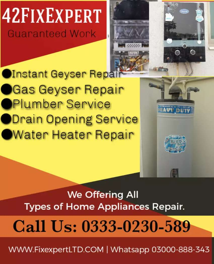 AC Fitting, instant Geyser Repair, Plumber Service, AC Installation 0
