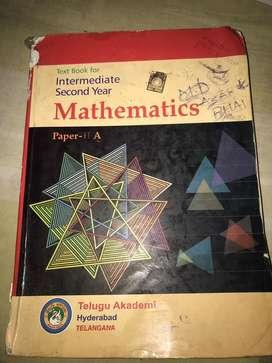 Maths inter second year text book