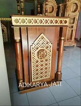 Mimbar podium material kayu jati readi D091.