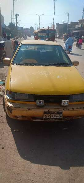Taxy yellow Car Model 1993 Ac on And petrol running road