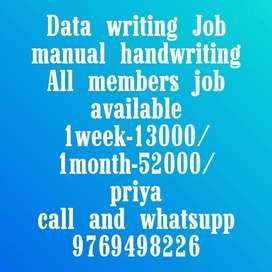 Easy manual handwriting job