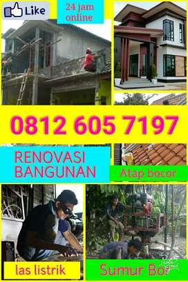 tukang bangunan,Renovasi,Las,gypsum,atap,Sumur Bor, Wc,tumpat,sedot