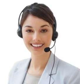 Female telecalling staff