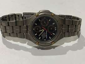 CITIZEN TITANIUM AND INTERCEPTOR ECO -DRIVE GENTS WATCH
