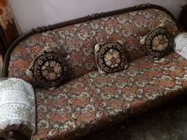 Colour Brown 5 seater sofa  condition normal