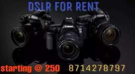 DSLR For Rent