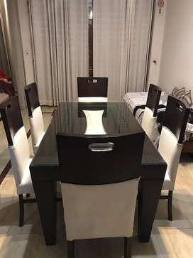 it is in very good condition . It is with 6 chairs