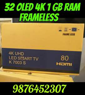 NEW 32 OLED Smart 4K Frame Less 1 GB 8 GB 2 Yr Replacement Grantee