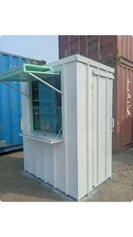 Dijual booth semi container stand makanan dan minuman