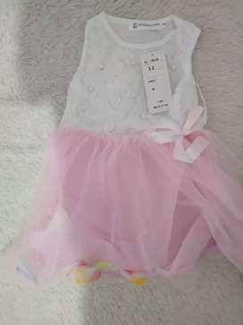 Dress impor bayi lengan pendek