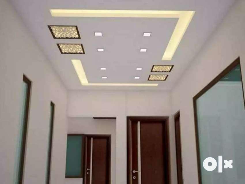 Gypsum board ceiling work ,cornice & partition @55  . 0