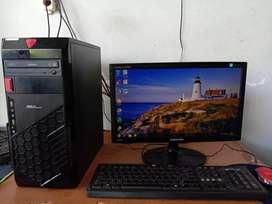 Komputer GAMING /DESAIN LED 19 inci CPU RAM 8 GB VGA 4 GB DDR 5 RX 560