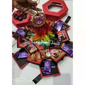 Explosion chocolate photo box