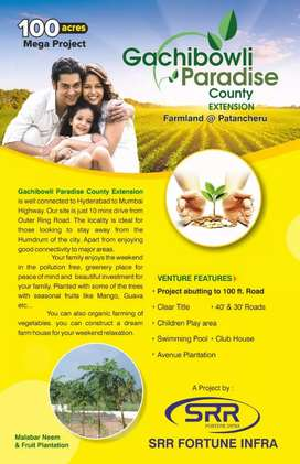 At Patancheru Farmland open plots for sale