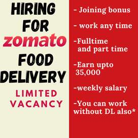 Hiring for Food delivery in Ranchi city