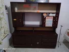 Buffet rak TV, bufet kayu jati tua asli