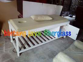 bed massage putih matras cream