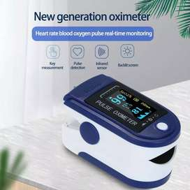 Pulse Oximeter fingertip alat pengukur saturasi oksigen Free Batre AAA