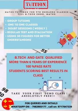 Class 9th and 10th maths tutor