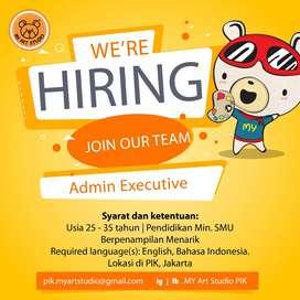Admin Executive & Part time Art Teacher Lokasi PIK