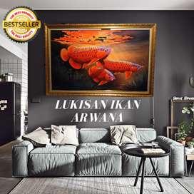 Lukisan Arwana Super Red