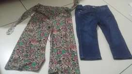 Jeans  and satan trouser for girls age 3-4 years