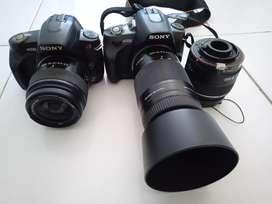 Sony DSLR A330 dobel lensa. . .