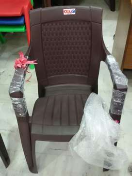 All New Plastic Chairs With Arms  Brown Colour Fresh