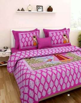 Cotton printed double bedsheets