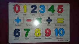 Mainan anak edukasi puzzle matematika