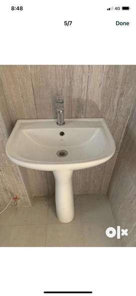 Jaguar pedestal wash basin at a give away
