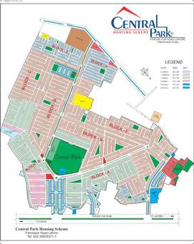 1 kanal plot for sale in Central Park Lahore
