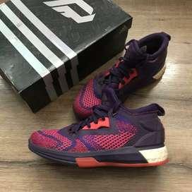 Jual sepatu Adidas Dame 2 boost primeknit purple size 40 2/3