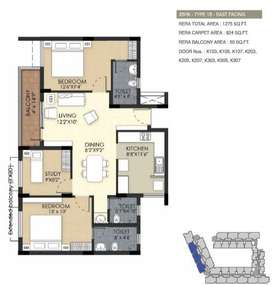 3BHK with attractive price at perungalathur by TVS Green Arche