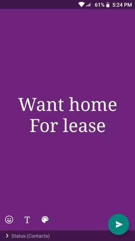 Want home for lease in areas of Kottayam town