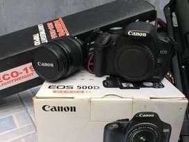 JUAL CEPAT - Kamera DSLR CANON EOS 500D+TRIPOD