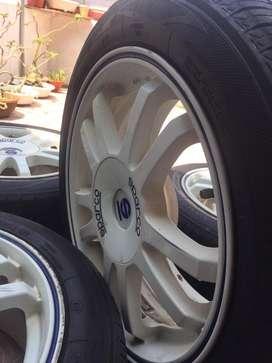 Velg sparco rally R16x7, 4x100, et 37 + Ban Toyo