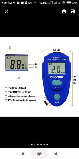 EM2271 Digital LCD Coating Thickness Gauge Car Painting Thicknes