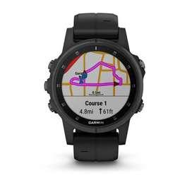 Garmin fēnix 5S Plus Sapphire with Black Band Run Cycle walk watch