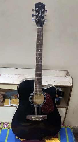 Black Acoustic Guitar (Semi - Electric)