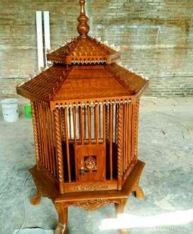 Kandang ayam peliharaan kayu jati 09